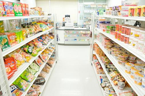 Interior of convenience store